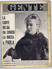GENTE N. 13, 1963 – Paola di Liegi,Marcello Mastroianni,Mina, Rosanna Schiaffino