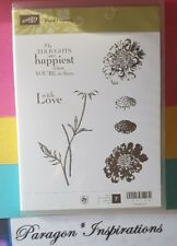 NEW Stampin Up FIELD FLOWERS Flower Stem Silhouette Love Happiest with You