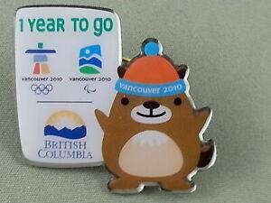 Vancouver 2010 - Winter Olympic Games - 1 Year Countdown Pin - Ft. Muk Muk