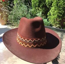 Estate Dynafelt Water Repellent Fur Blend Men Cowboy Hat Brown Made In USA   c1968fd37503