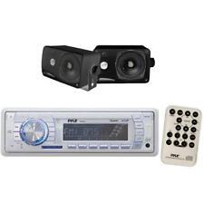 "NEW Pyle Marine AM/FM USB/SD iPod AUX Receiver Stereo + 2 x 3.5"" 200W Speakers"