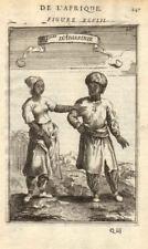 ETHIOPIA COSTUME. Abyssinians in 17C dress. 'Peuples d'Abissinie'. MALLET 1683