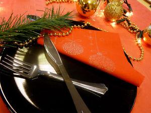 125 x 40cm Christmas Xmas Baubles Paper Napkins / Serviettes [5055202162143]
