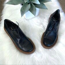 Robert Clergerie Platform Black Leather Oxfords Women's Size 8