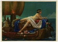 Vintage Hy Hintermeister 1930s Art Deco Pin-Up Print Egyptian Cleopatra Fantasy