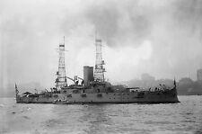 "1910 Battleship USS Alabama, Military, War ship, antique, 20""x14"" Photo"