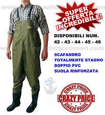 SCAFANDRO STIVALE DOPPIO PVC STAGNO NUMERO 44 BARCA GOMMONE PESCA SPINNING ALTRO
