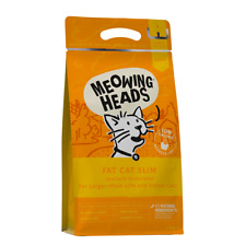 Meowing Heads Fat Cat Slim Cat Food 1.5KG Kibble. Low Calorie. Indoor Cat.
