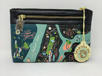 NWT Spartina 449 Map Of New York City Scout Wristlet Handbag 012067