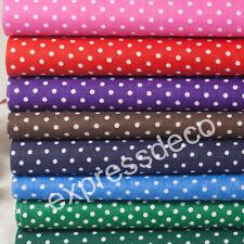 Lot de 8 Coupons Tissu Patchwork Couleurs Pois Couture Sac Pochette 25 x 20 cm