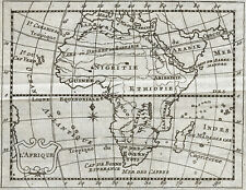 1773 L'Afrique - Carte géographique ancienne, très rare. Gravure