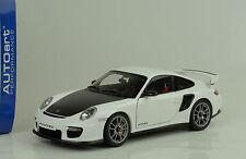 2010 Porsche 911 997 gt2 RS 2010 White/carbon Weiss 1:18 Autoart