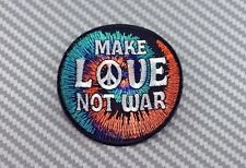 IRON PATCH LOGO embroidered sew BADGE CUSTOM EMBLEM PEACE LOVE FREEDOM not war