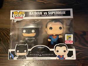 SDCC 2015 Funko Pop BATMAN VS SUPERMAN Exclusive IN HAND NIB Limited #500 Rare