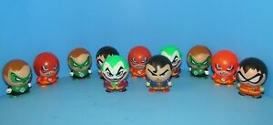 """DC Comics Lot of 11 Rare Hollow Buildable Collectable Figures 2.5"""" L@@K"""