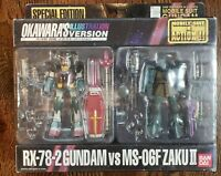 NEW MSIA RX-78-2 VS MS-06F Zaku II Okawara Gundam Action Figure Set Bandai