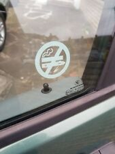 12 NO SMOKING NO VAPING STICKERS VIEW BOTH SIDES ON GLASS SIGN STICKER WHITE