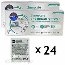 Washing Machine Dishwasher Limescale Descaler & Detergent Remover 24 x 50g