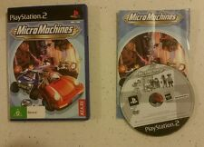 Micro Machines (Sony PlayStation 2, 2002) PAL PS2 game racing by Atari -Complete