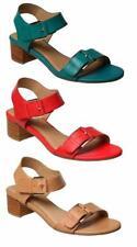 Buckle Leather Wide (C, D, W) Heels for Women