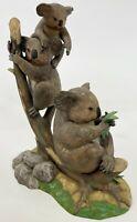 "Vintage LENOX 7"" Australian Koalas 7 Continent Wildlife Porcelain Figurine w Box"