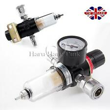"UK 1/4"" BSP Air Compressor Moisture Trap Oil Water Filter Lubricator Regulator"