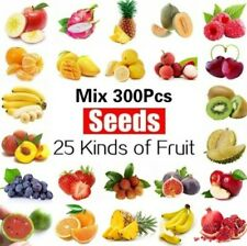 25 kinds of Delicious Fruit seeds mixed 300pcs Plants bonsai for home garden.