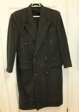 Men's Long Charcoal Gray Wool Cashmere Blend Coat Overcoat Sz 38 By Paul Rodon
