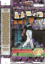 Barry Bonds Signed Authentic Autographed MVP Crunch Ceral Box JSA #T10583