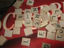 100  Wood Lettter Scrabble Tiles from  Old Scrabble Game
