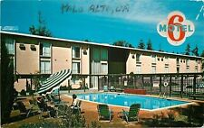 Palo Alto California~Motel 6~1950s Postcard