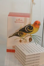 WESTERN TANAGER~2015 HALLMARK ORNAMENT~#11 BEAUTY BIRD SERIES~SUPER PRICE!!!!
