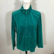 Carribean Joe Women Full Zip Sweatshirt Jacket Top Size XL Petite Green - E114