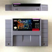 Contra III 3 The Alien Wars Game Card For Nintendo SNES US Version 16Bit English