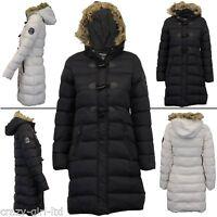 Womens Stylish Brave Soul Coat Toggle Detail Padded Jacket Size 8 10 12 14 16