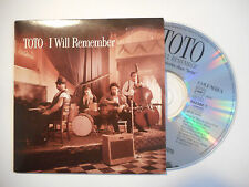 TOTO : I WILL REMEMBER ( 2 TITRES ) ♦ CD SINGLE PORT GRATUIT ♦