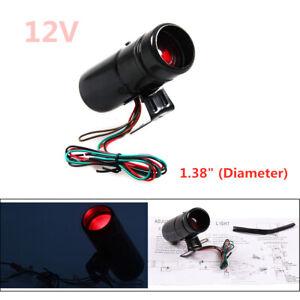 "1.38"" Diameter 12V 1000-11000 RPM Tachometer Tacho Gauge Shift Light Red LED"