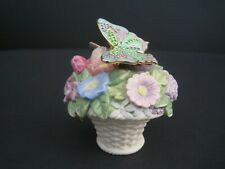 Lenox Bejeweled Butterfly Bouquet Porcelain Floral Figurine with Pin Brooch
