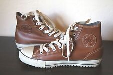 Converse All Star Chuck Taylor Brown Leather Hi Tops Shoes Men 8.5 Women 10.5
