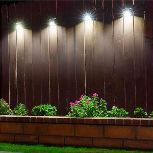 4x Super Bright LED Solar Powered Wall Light Door Fence Outdoor Garden Lighting