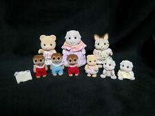 Mixed Character Lot of 9 Calico Critters Dressed Bear, Meerkat, Guinea Pigs,