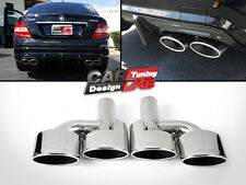 Quad Oval Exhaust Pipe Tips Muffler Tips For Mercedes Benz C W204 W207 W212 W221
