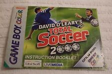NINTENDO GAME-BOY COLOUR (VINTAGE) MANUAL * DAVID O`LEARY - TOTAL SOCCER * USED