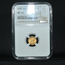 1852 $1 GOLD DOLLAR ✪ NGC MS-61 ✪ UNCIRCULATED UNC TYPE 1 T1 L@@K NOW ◢TRUSTED◣