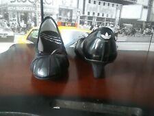 Womens Black Adidas Superstar Heel wedge pumps shoes leather US 8 UK 6.5 E 40
