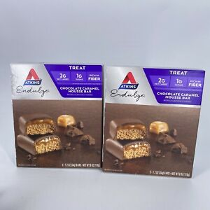 Atkins Endulge Chocolate Caramel Mousse Bar 2 Boxes / 10 Bars Ex5/21 Cold Packed