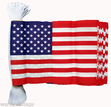 U.S.A. BUNTING FLAG 9 metres 30 FLAGS AMERICA AMERICAN