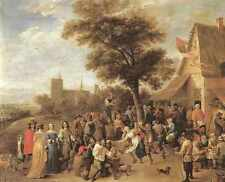 David Teniers the Younger contadini MERRY rendendo stampa in A4