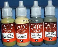 Vallejo Juego Color Paint-Verde Camo Camuflaje Set - 4 X 17ml botellas. DF24