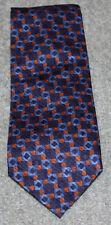 Tie rack blue and brown design silk tie